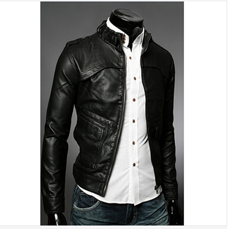 Fahion Casual Coat Europe & America Epaulet Zippers Jacket Collar Long Sleeves Outwear Men Clothing(China (Mainland))