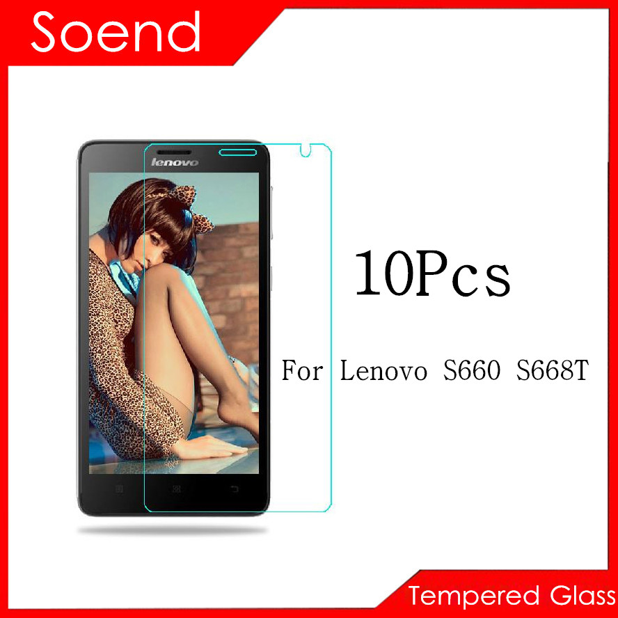 10Pcs/Lot Tempered Glass Screen Protector For Lenovo S660 Protection Cover Protective Guard Film 2