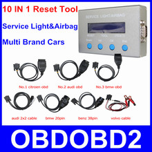New Arrival 10 IN 1 Service Light Airbag Reset Tool Universal Oil 10 In 1 Mileage Correction Resetter For Multi Brand Cars(China (Mainland))
