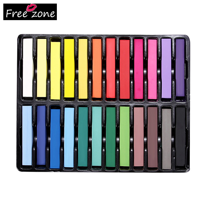 Hair Care 24 Colors Hair Chalk Popupar Temporary Hair Color Beautiful
