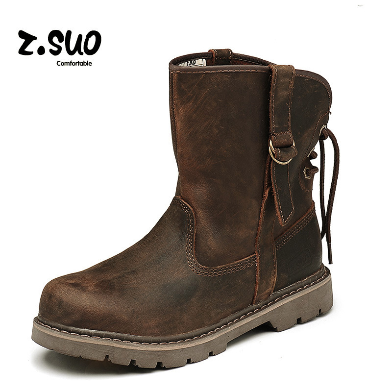 2015 Fashion Vintage Men Martin Boots Genuine Leather Ankle Boots Tooling Boots Mens Casual Boots SIZE 39-44 Free Shipping<br><br>Aliexpress