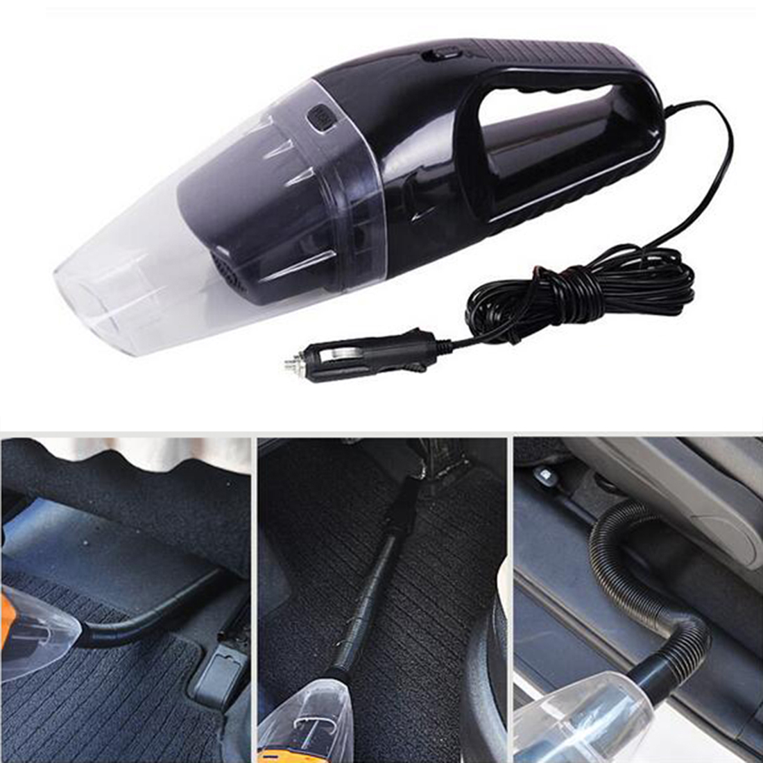 2016 Autos Parts Portable Car Vacuum Cleaner Wet And Dry Dual-Use Super Suction 5Meter 12V 120W(China (Mainland))
