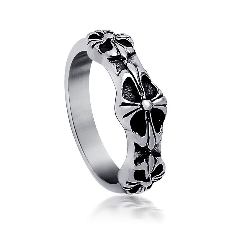 Fashion Jewelry 316L Stainless Steel Silver Cross With Joy Simple Circle Real Love Couple Ring Wedding Rings Engagement Rings(China (Mainland))