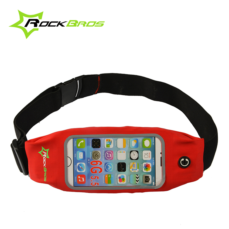 "ROCKBROS 5.8"" 6"" Touch Screen Waterproof Sports Cycling Waist Bags Running Pockets Belt Case Phone Holder Bike Bicycle Pouch(China (Mainland))"