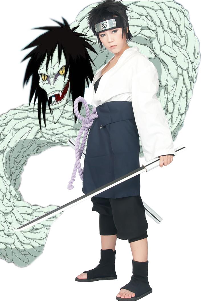 Free Shipping Naruto Uchiha Sasuke Orochi Kimono Anime Cosplay Costumes(China (Mainland))