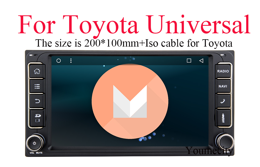 3G/4G Android 6.0 2 DIN Corolla RAV4 Camry Car DVD GPS for Toyota Terios Yaris Old Universal radio wifi Capacitive 1024*600 DAB(China (Mainland))
