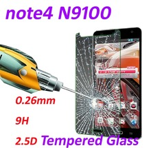 0.26mm Tempered Glass screen protector phone bags 9H Tempered 2.5D Glass cases protective film For Samsung Galaxy note4 N9100