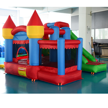 DHL FREE SHIPPING Residential nylon bouncy castle inflatable slide combo bounce house jumping castle with ball pit(China (Mainland))