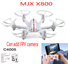 100% Original MJX X800 2.4G 6-Axis RC Drone Helicopter Can Add C4005 FPV HD Wifi Camera White & Black Syma X5SW X5C