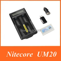 2015 Nitecore UM20 Digicharger LCD Display Battery Charger Universal Nitecore Charger with usb cable.Freeshiping
