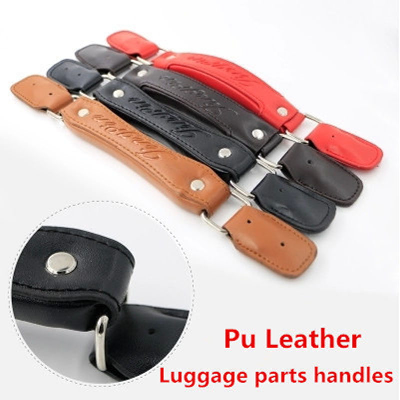 Replacement Trolley Luggage Repair Parts Handles Suitcase Accessories PU Leather Knopper bags Portable - Shop1186626 Store store