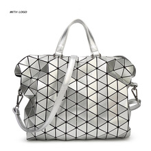 Geometric Design Fashion Bao Bao Handbag Foldable Plaid Women Shoulder Bag Quilted Folded Casual Large Shopping Bag For Women