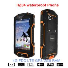 Free 16GB Original Huadoo HG04 IP67 Rugged Waterproof Shockproof Smartphone Quad Core 2GB 16G 4G FDD LTE Phone Android4.4 GPS 5s(China (Mainland))