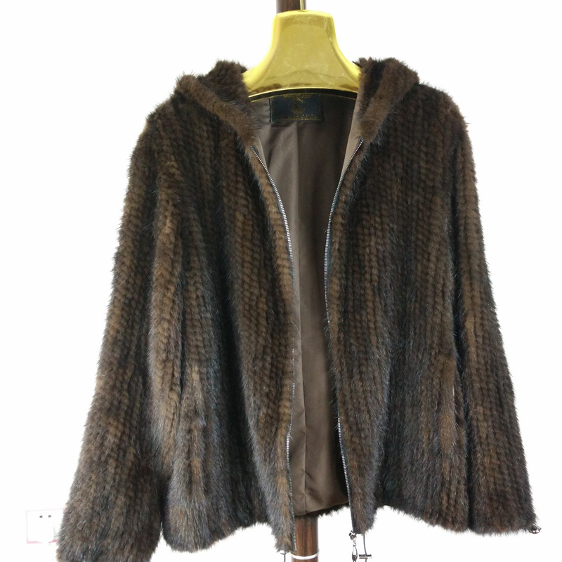 New Natural Mink Fur Jacket  Winter Coat Womens Long-sleeve Fashion All-match Knitted Mink Coat big size 6XL Free shippingОдежда и ак�е��уары<br><br><br>Aliexpress
