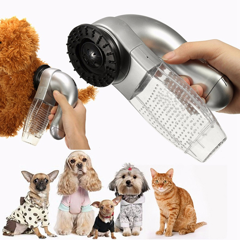 Dog Cat Pet Hair Fur Trimmer Remover Shedding Grooming Brush Comb Vacuum Cleaner Pet Fur Trimmer XP0355(China (Mainland))
