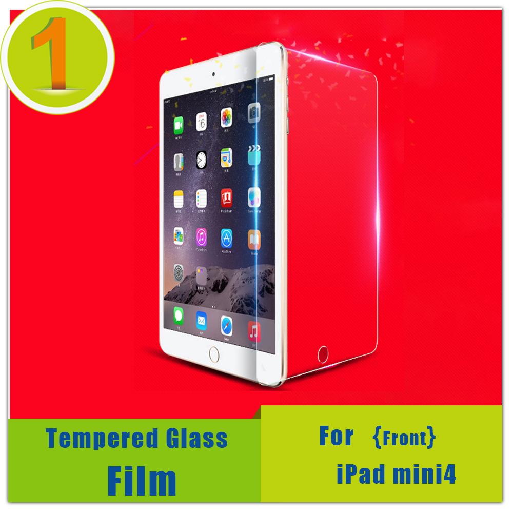 0.2mm Tempered Screen Glass For iPad mini4,9H Hardness Transparent Protector,Anti-blue HD Fingerprint-Proof Arc For iPad mini 4(China (Mainland))