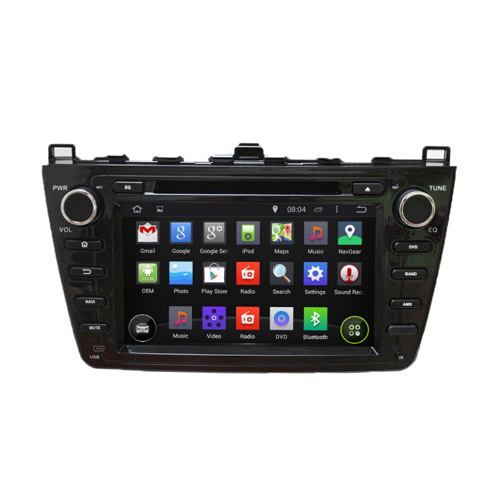 7'' Android 4.4 Auto DVD Player GPS Navigation System for 2008 2009 2010 2011 2012 Mazda 6 with Capacitive Screen,Black(China (Mainland))