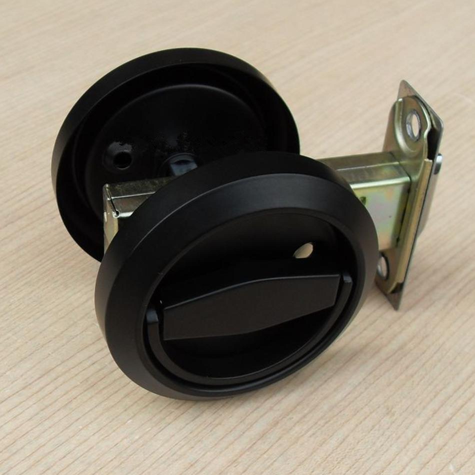Buy fashion black stainless steel recessed hood lock cup handle hidden door for Interior door knobs with locks