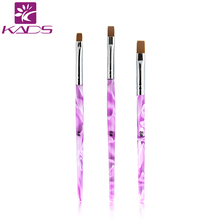 KADS 1pc 6# pink Decorations Gel Painting Pen Nail Brush Professional Nail Equipment Drawing Tool
