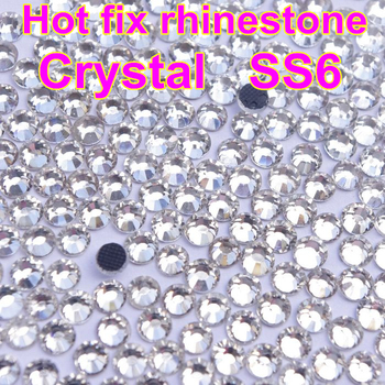 1bags/lot 1440pcs Good quality Mini Size Crystal Clear DMC Flatback Hot Fix Rhinestones Glass Strass Hotfix Rhinestones