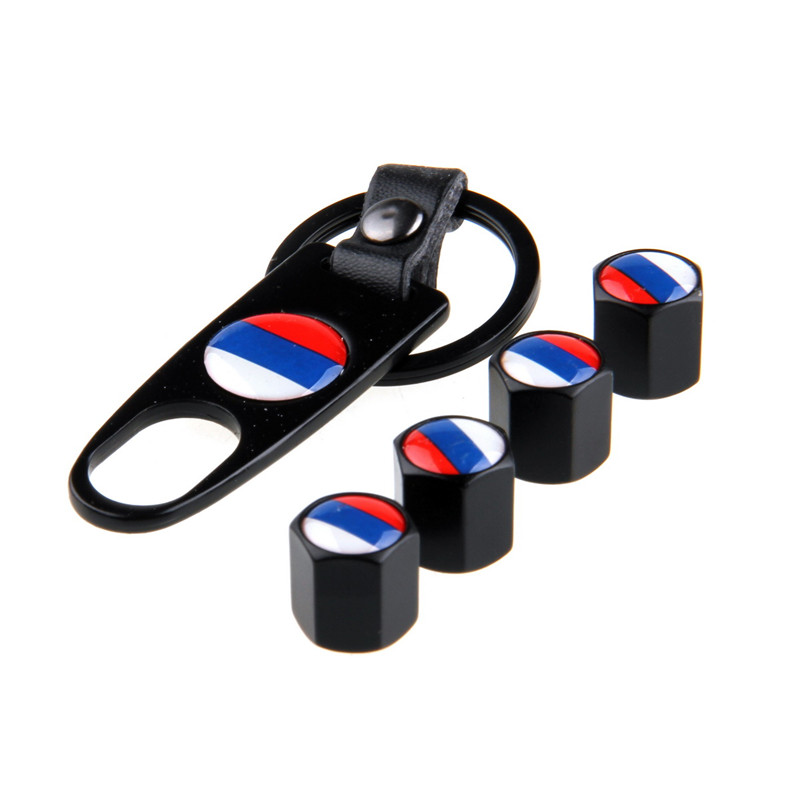 -90% OFF 4 Pcs/Set Car Auto Motorcycle Stainless Steel Black Car Wheel Airtight Tyre Tire Stem Air Valve Caps With Keychain(China (Mainland))