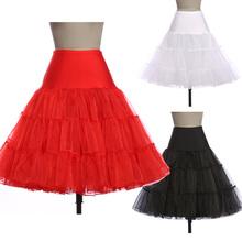 7 colori nero bianco abito di sfera della ragazza slip rockabilly petticoat per vintage wedding crinoline underskirt 2016 gonna donne 8922(China (Mainland))