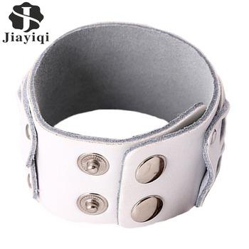 Новый 3 цветов подлинным ручной работы кожаные браслеты марка мода панк широкий манжеты ...