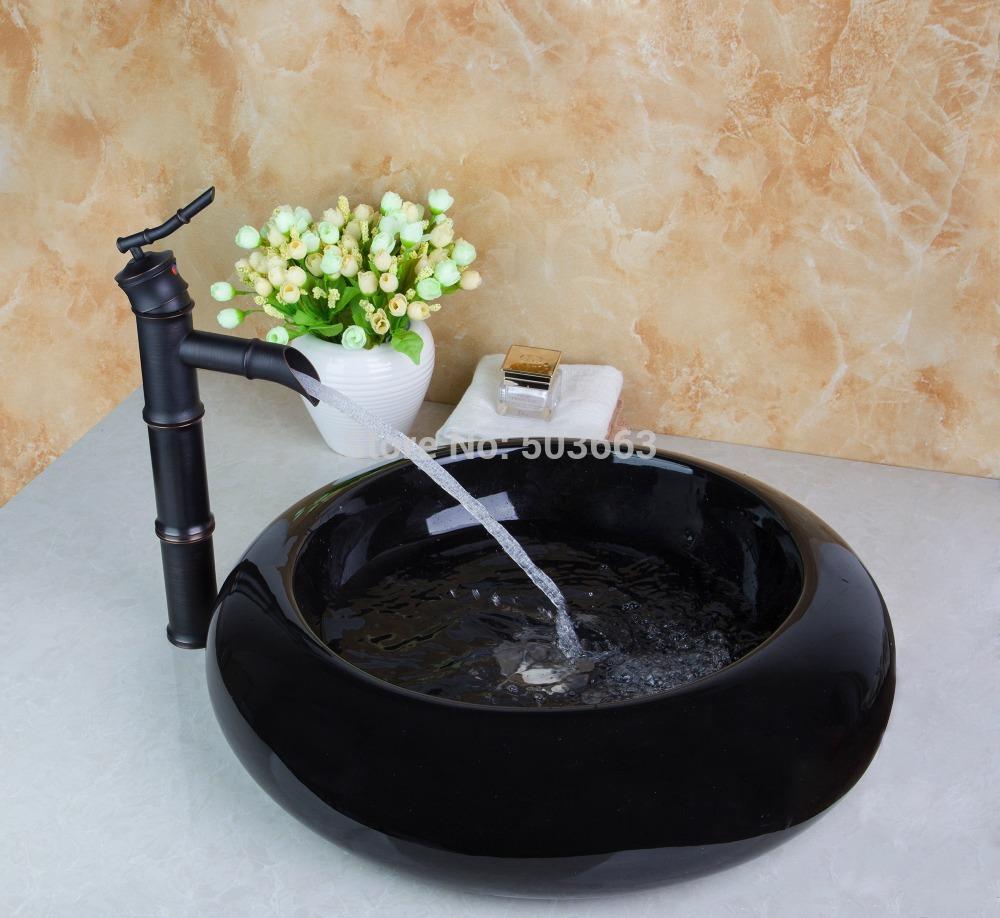 8655-1TD3018 Modern Artistic Wash Basin Counter Hand Paint Color Washbasin Ceramic Sink Brass Mixer Tap Faucet Basin<br>