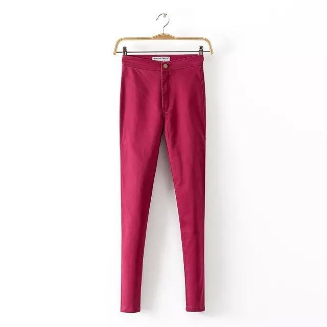 Women Slim Skinny High Waist Jeans Woman Blue Denim Pencil Pants Stretch High Waist Women Jeans Pants Calca Feminina