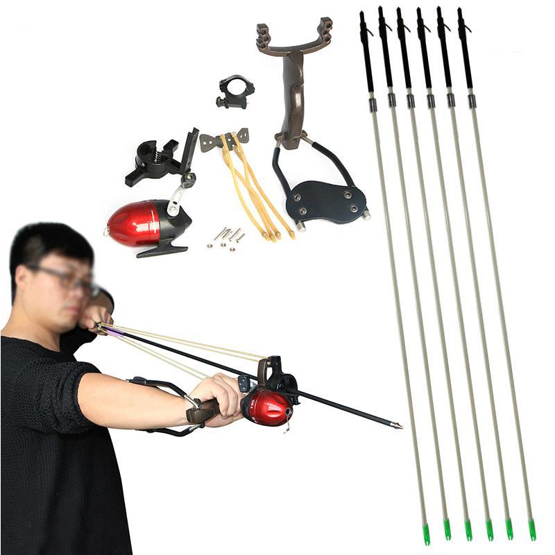 рогатка со стрелами для рыбалки видео