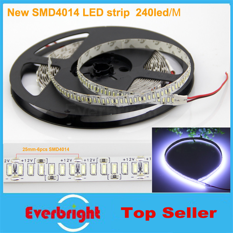 1000 Meters Cree SMD 4014 Flexible LED Strip 240LEDs/M Non Waterproof DC 12V Rope Light Cool White/Warm white/Nature White(China (Mainland))