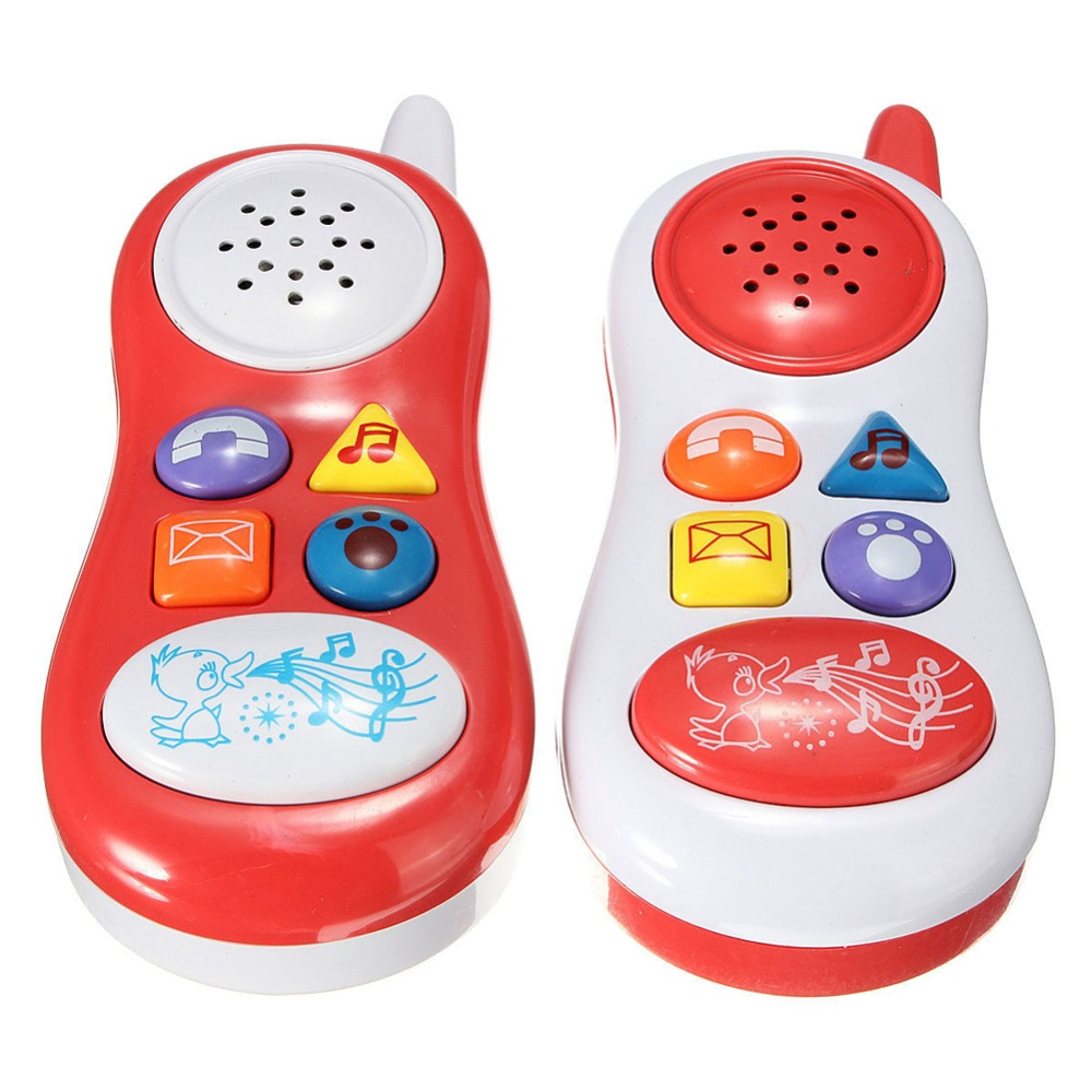 Baby Toys Phone Kids Learning Study Musical Sound Educational Toys Cell Phone for Children Random Color(China (Mainland))
