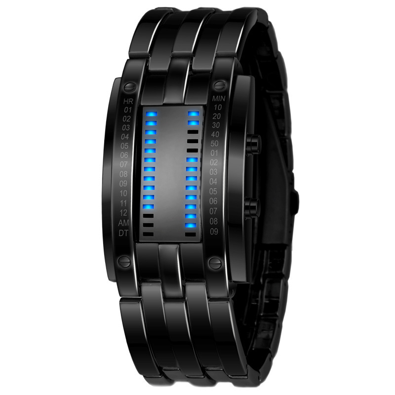 SKMEI Tungsten Steel Watches Men Binary LED Watch Sport Clock Outdoor Fashion Watch Calendar Luxury Digital Lovers Watch Pair(China (Mainland))