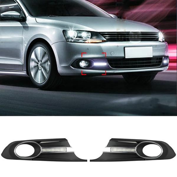 DRL Lights for Volkswagen VW Jetta Sagitar MK6 2012 2013 2014 LED Car Styling New Modify Lamp Daytime Running Light<br><br>Aliexpress
