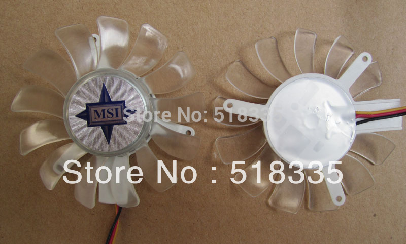 New original MSI 9500GT graphics card fan blade diameter 65mm pitch 47 * 47 * 47mm 3 line 4P(China (Mainland))