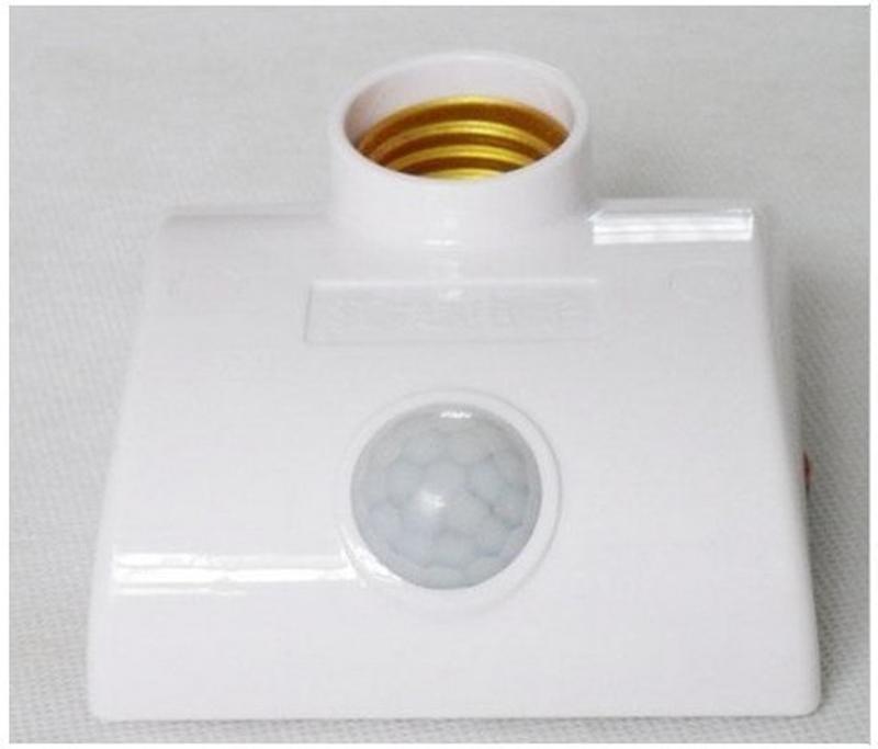 E27 led light base bulb motion sensor lamp holder LED PRI electric light socket lamp cap 3 years warranty 4pcs/lot(China (Mainland))