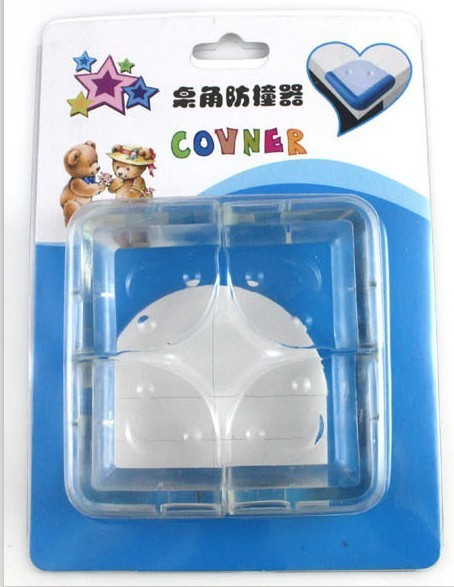 Transparent collision angle soft corner guards baby bumper ball corner protector smiling face 20sets