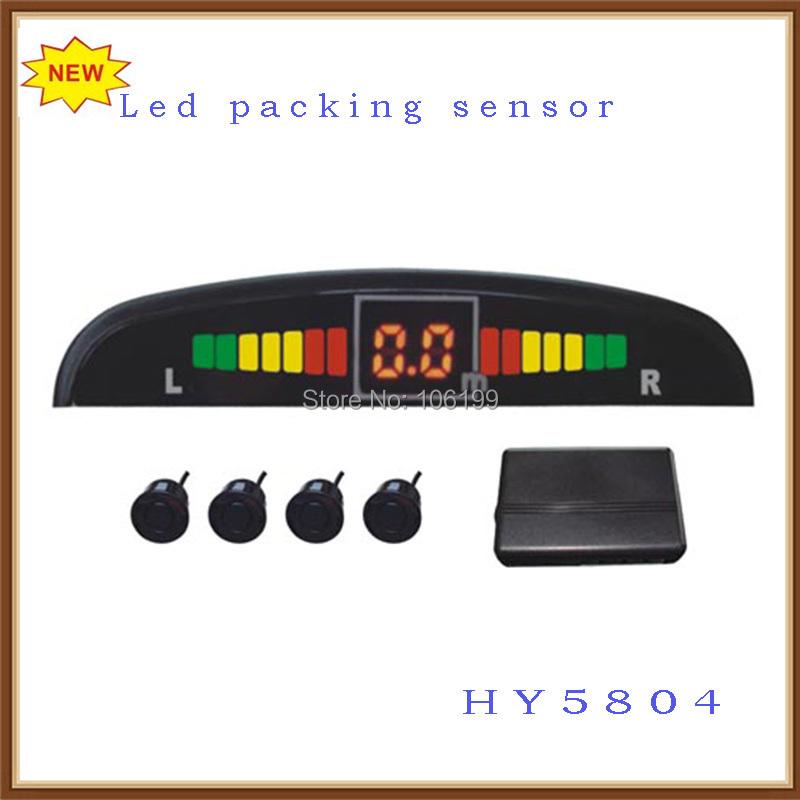 1 лот=10шт лучшей цене Сид автомобиля Система помощи при парковке с датчиком 4шт LED дисплей горячая продажа!!! HY5804