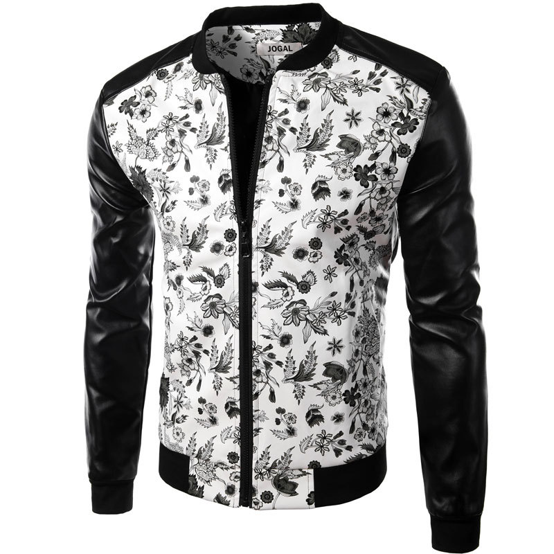 Brand white pu leather men shirt 2016 fashion design for Mens white leather shirt