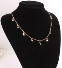 Mode Boho Chocker or couleur chaîne gland étoile Collier ras du cou pour les femmes colliers et pendentif Collier Gargantilha Collier Femme(China)