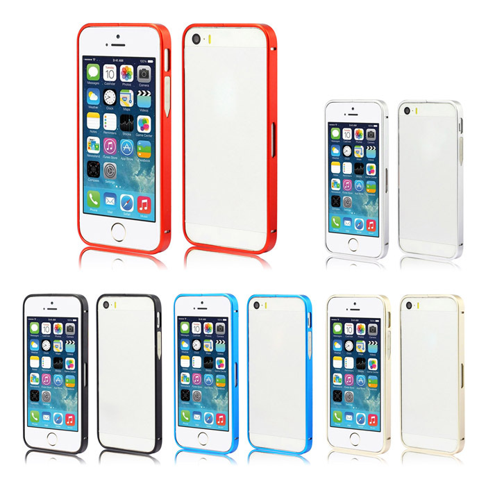 Unique Ultra Thin Aluminum Metal Bumper Frame Case Cover For iPhone5 5S Snow(China (Mainland))