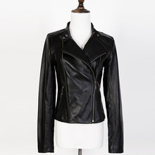 2016 best-selling female Genuine leather jacket,Mandarin Collar,Spring fashion black leather jacket,woman leather jacket coat (China (Mainland))