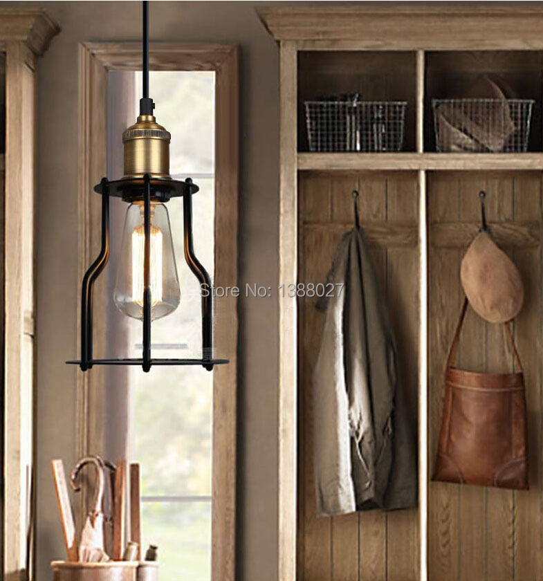 Retro industrial classic metal frame pendant light(China (Mainland))