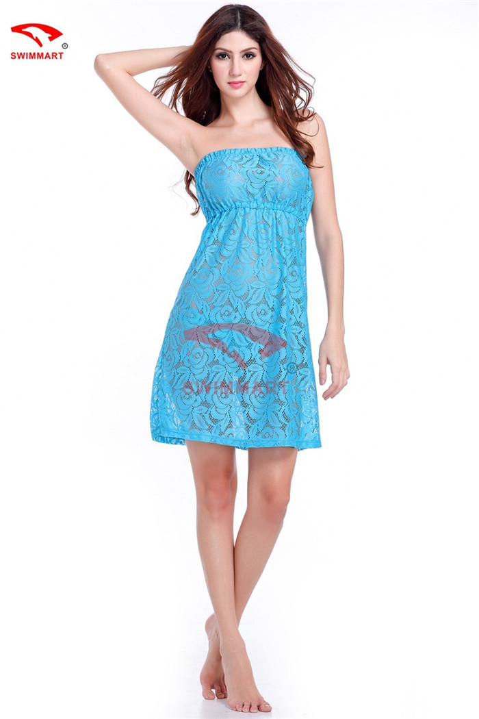 Strapless Beach Cover up Strapless Lace Cover up