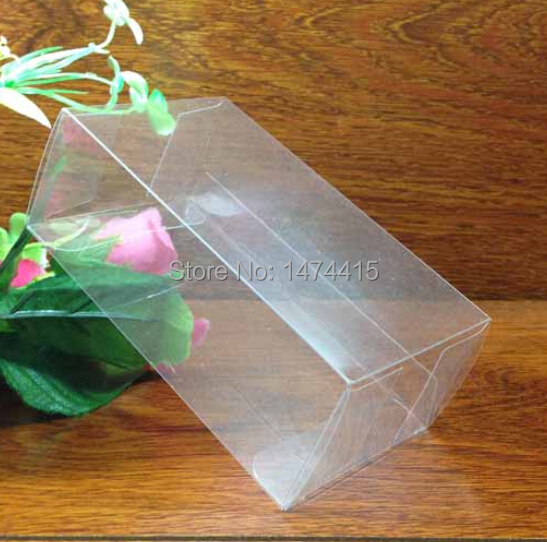 11*11*22 cm pvc toy box plastic folding perfume box , toy package plastic transparent chocolate box Free shipping(China (Mainland))