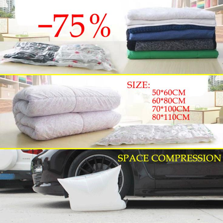 Hot! Household Items Storage Bags Vacuum Seal Compressed Organizer Clothes Quilt Finishing Dust Bag Pouch A Single(China (Mainland))