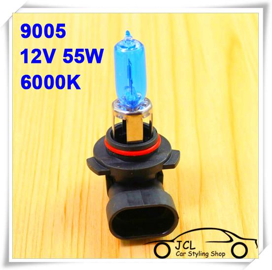 2pcs Xenon 9005 HB3 Halogen HeadLight Bulb Kit Super White 6000K 12V55W Car light Car Styling For Honda Accord Civic CRV Odyssey(China (Mainland))