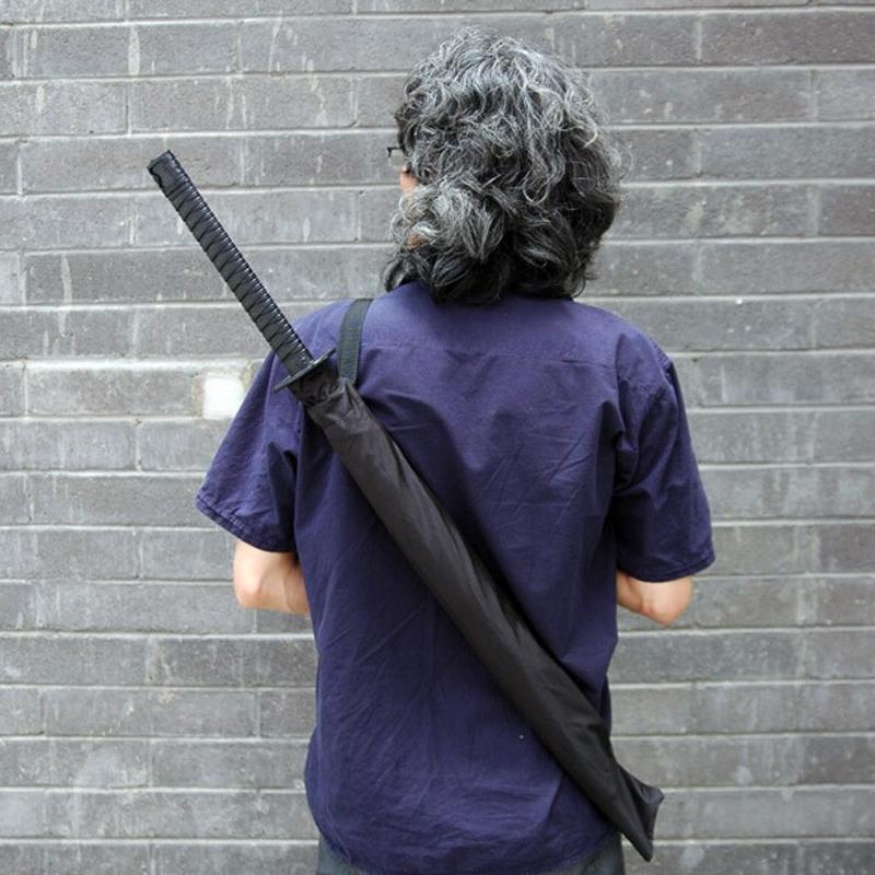 Carbon fiber version samurai swords creative umbrella, don't touch water, wind, increase the umbrella(China (Mainland))