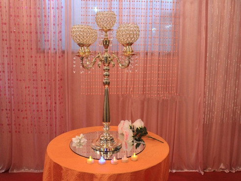 wedding decorations tall Crystal Candle holder table centerpiece