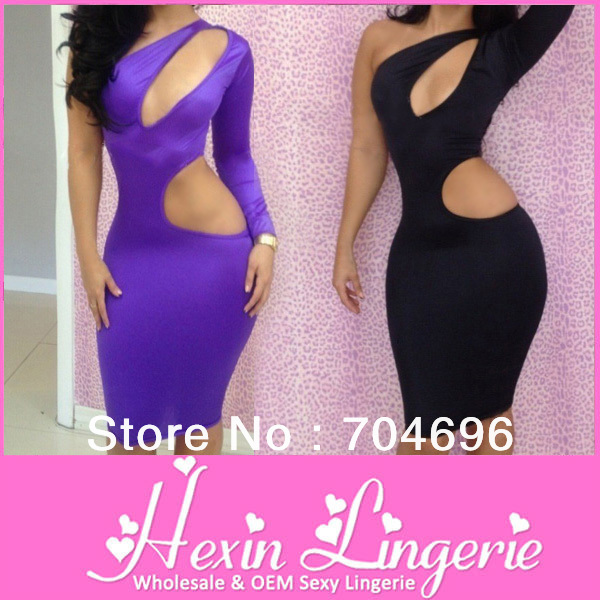 5 Colors 2013 New Arrival Sexy Nightclub Dresses Summer Sexy Women's Party Evening bandage dress, One Shoulder Dress LB5046